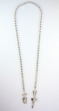 Load image into Gallery viewer, Vintage Christian Lacroix Crystal Tie Necklace c.1980s