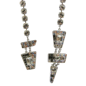 Vintage Christian Lacroix Crystal Tie Necklace c.1980s
