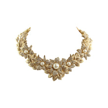 Load image into Gallery viewer, Stunning Vintage Christian Dior Decadent Floral Gold Tone Collar Necklace c.1980s