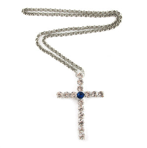 Harlequin Market Crystal Cross Necklace