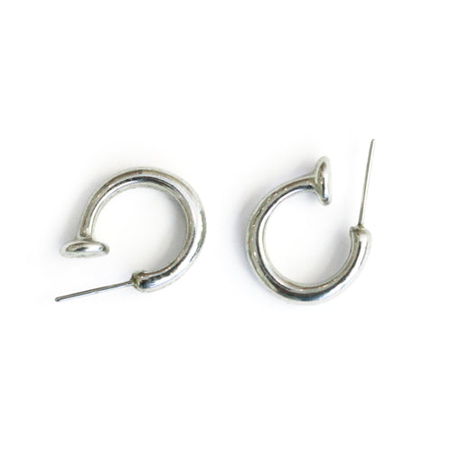 Harlequin Market Small Silver Tone Hoop Earrings