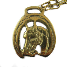 Load image into Gallery viewer, Harlequin Market Vintage Horse Medallion Neck Chain