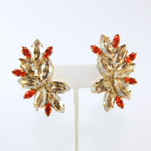Load image into Gallery viewer, HQM Austrian Light Colorado Topaz & Hyacinth Earrings (Clip-On)