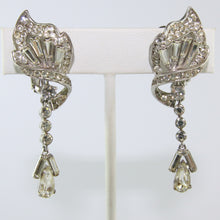 Load image into Gallery viewer, HQM Austrian Vintage Deco Twist Single Drop Earrings (Clip-On)