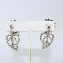 Load image into Gallery viewer, HQM Austrian Vintage Leaf Climber Clear Crystal Earrings (Pierced)