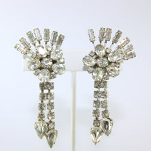 Load image into Gallery viewer, HQM Austrian Vintage Floral Sprig & Tassel Drop Earrings (Clip-On)