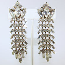 Load image into Gallery viewer, HQM Austrian Vintage Large Drop Textural Earrings (Clip-On)