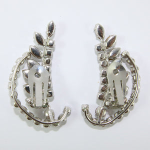 HQM Austrian Vintage Unsigned Leaf Cuff Earrings (Clip-On)