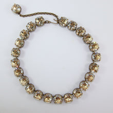 Load image into Gallery viewer, Harlequin Market Large Austrian Crystal Accent Necklace - Golden Shadow