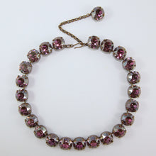 Load image into Gallery viewer, Harlequin Market Large Austrian Crystal Accent Necklace - Light Amethyst