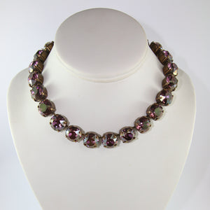 Harlequin Market Large Austrian Crystal Accent Necklace - Light Amethyst