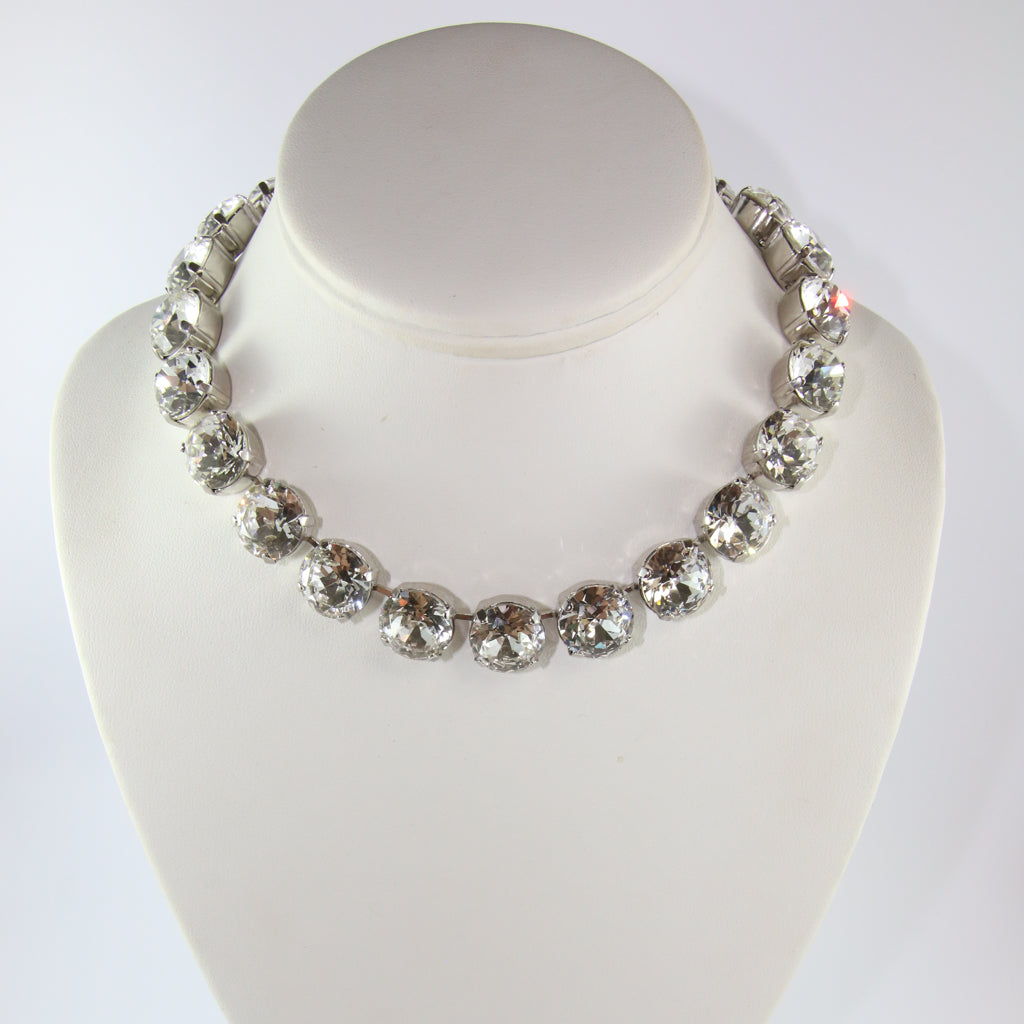 Harlequin Market Large Austrian Crystal Accent Necklace - Clear
