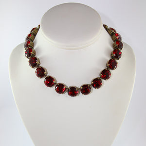 Harlequin Market Large Austrian Crystal Accent Necklace - Siam