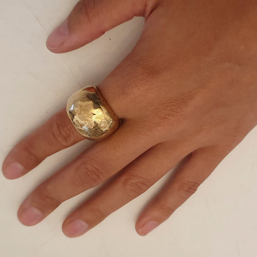 HQM Large Bronze 'Nugget' Ring