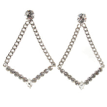 Load image into Gallery viewer, HQM | Harlequin Market Large Chandelier Clear Crystal Statement Earrings