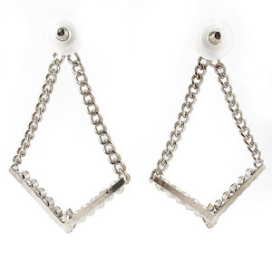 HQM | Harlequin Market Large Chandelier Clear Crystal Statement Earrings
