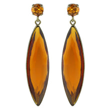Load image into Gallery viewer, Harlequin Market Austrian Crystal Earrings - Topaz (Pierced)