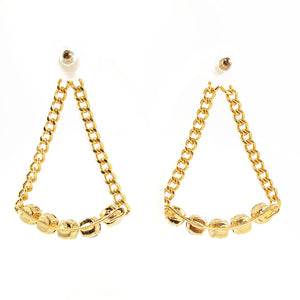HQM | Harlequin Market Large Chandelier Crystal Statement Earrings- (Pierced earrings)