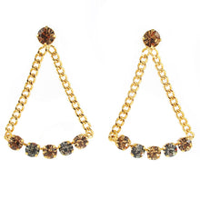 Load image into Gallery viewer, HQM | Harlequin Market Large Chandelier Crystal Statement Earrings- (Pierced earrings)