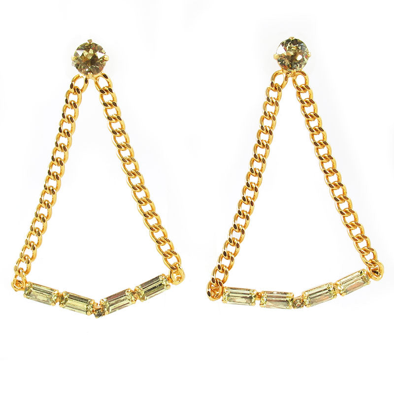 HQM | Harlequin Market Large Chandelier Jonquil Crystal Statement Earrings