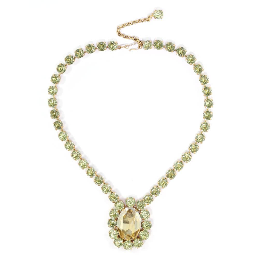 Harlequin Market Austrian Crystal Necklace - Golden Shadow & Jonquil