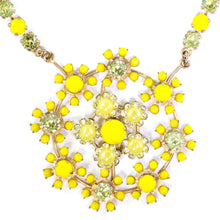 Load image into Gallery viewer, Harlequin Market Yellow Austrian Crystal Detail Neckpiece