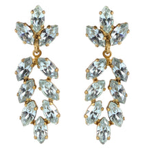 Load image into Gallery viewer, Harlequin Market Austrian Crystal Drop Earrings - Light Sapphire (Pierced)