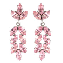 Load image into Gallery viewer, Harlequin Market Austrian Crystal Drop Earrings - Light Rose (Pierced) Copy