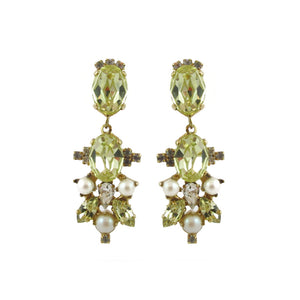 Harlequin Market | HQM Austrian crystal jonquil drop earrings