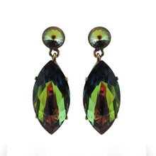 Load image into Gallery viewer, Harlequin Market Crystal Earrings - Crystal Vitrail