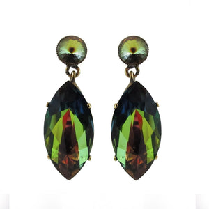 Harlequin Market Crystal Earrings - Crystal Vitrail