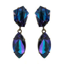 Load image into Gallery viewer, Harlequin Market | HQM Crystal Earrings - Bermuda Blue