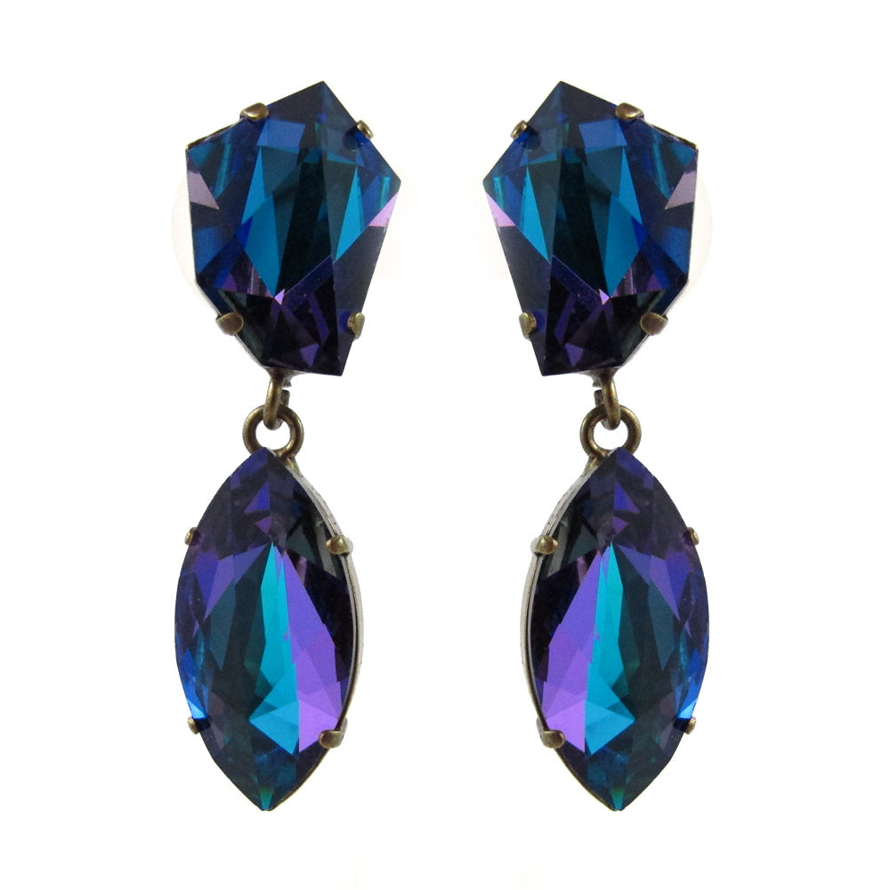 Harlequin Market | HQM Crystal Earrings - Bermuda Blue