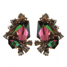 Load image into Gallery viewer, Harlequin Market Crystal Earrings - Reflective