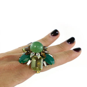 Signed 'Iradj Moini' Flourite and Citrine Ring
