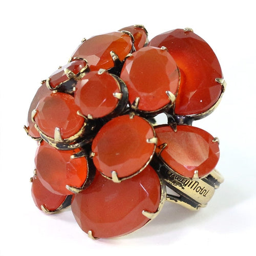 Signed 'Iradj Moini' Carnelian Flower Ring
