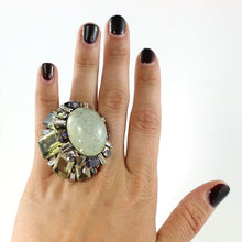 Load image into Gallery viewer, Signed 'Iradj Moini' Aquamarine and Citrine Ring