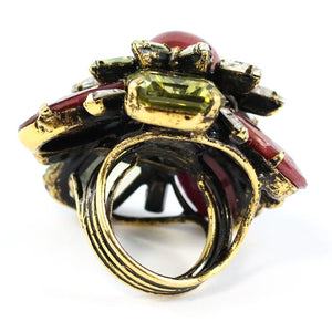 Signed 'Iradj Moini' Citrine, Ruby and Tourmaline Ring