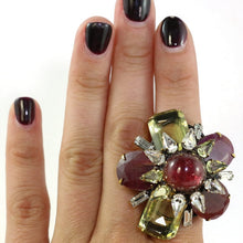 Load image into Gallery viewer, Signed 'Iradj Moini' Citrine, Ruby and Tourmaline Ring