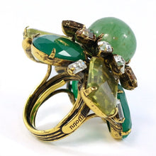 Load image into Gallery viewer, Signed 'Iradj Moini' Flourite and Citrine Ring
