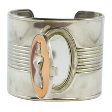 Load image into Gallery viewer, Jean Paul Gaultier Vintage Iconic Steel Perfume Tin Can Cuff c. 1990