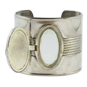 Jean Paul Gaultier Vintage Iconic Steel Perfume Tin Can Cuff c. 1990