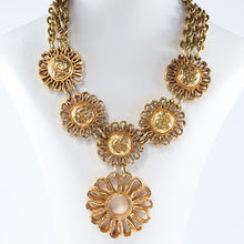 Load image into Gallery viewer, Christian Lacroix Signed Vintage Gold Tone Mogul Medallion Statement Necklace