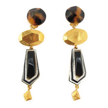 Load image into Gallery viewer, Signed Christian Lacroix long vintage clip earrings - c. 1980's