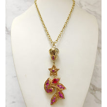 Load image into Gallery viewer, Christian Lacroix Vintage Pendant on Gold Tone Chain Link Necklace c.1990