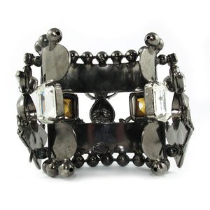 David Mandel for The Show Must Go On | Clear crystal & chrome statement cuff