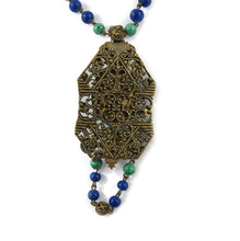 Load image into Gallery viewer, Vintage Circa 1930's Czechoslovakian Crystal and Glass Pendant Necklace