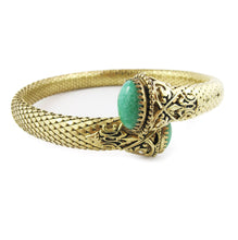 Load image into Gallery viewer, French vintage filigree & glass stone snake design choker & cuff (set) c. 1930