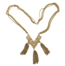 Load image into Gallery viewer, Vintage Gold Plated Tassel Necklace