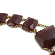 Load image into Gallery viewer, Vintage Circa 1950's Collar Neckpiece, Gold & Opaque Crystals